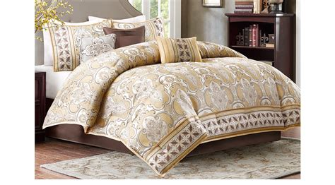 gold comforter set queen conley gold 7 pc queen comforter set
