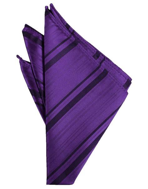 Striped Pocket Square purple striped satin pocket square rent or buy