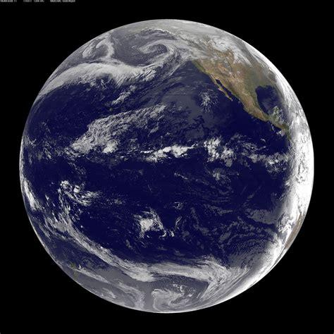 satellite sees pacific ocean basin  japan qua flickr