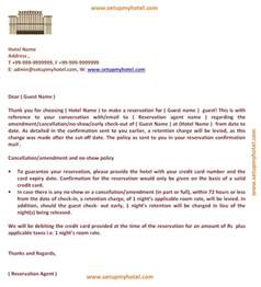 Reservation Letter By Email Reservation Retention Letter Cancellation Letter Format