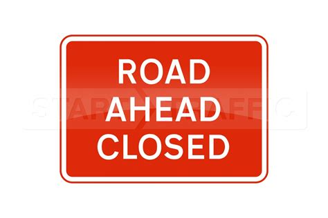 printable road closed signs road ahead closed road sign 1050x750mm metal sign