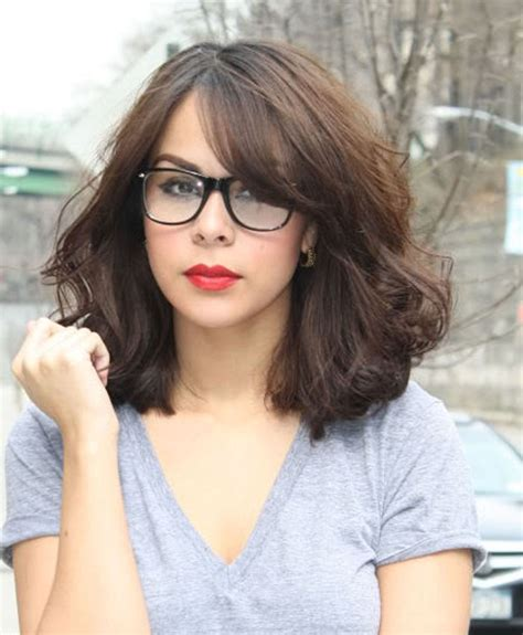 hairstyles for large glasses top 30 hairstyles with bangs and glasses the perfect