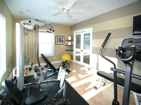 home gym interior design fitness room remodel traditional home gym other