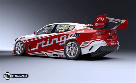 kia supercar potential kia stinger australian supercars racer rendered