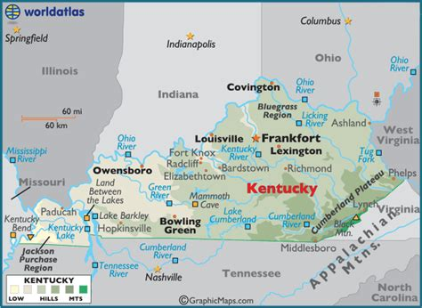 kentucky map america color map quotes
