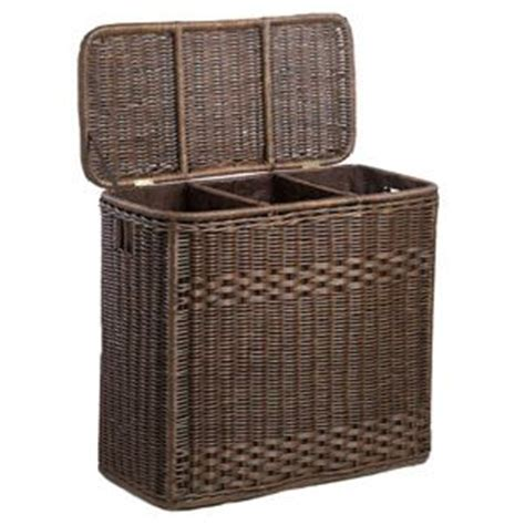 separated laundry 3 compartment wicker laundry her laundry her