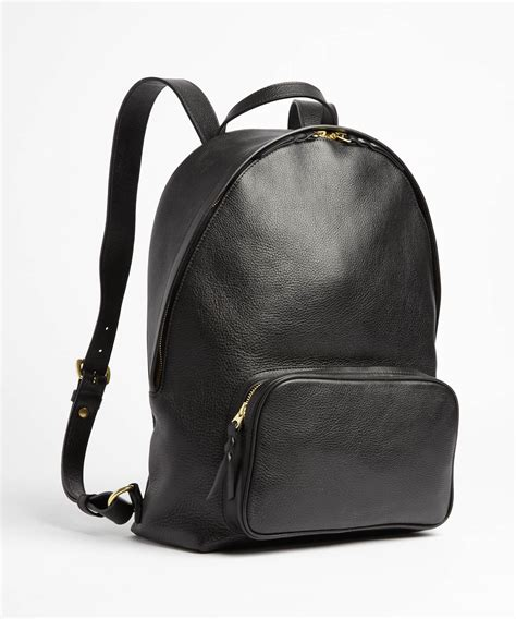 backpack black lotuff leather black leather backpack in black for lyst