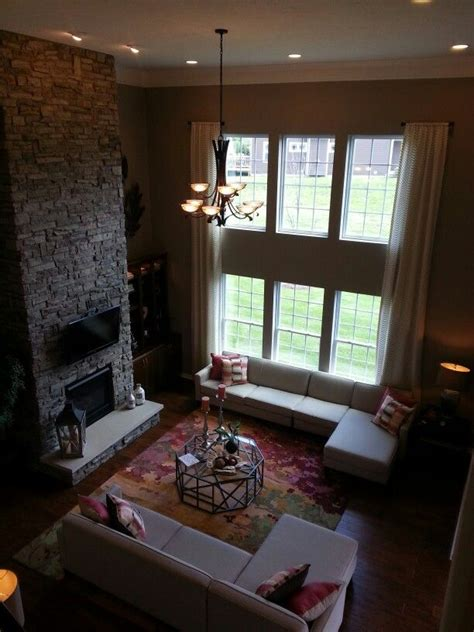 stacked stone fireplace for the home pinterest 2 story family room stacked stone fireplace family room