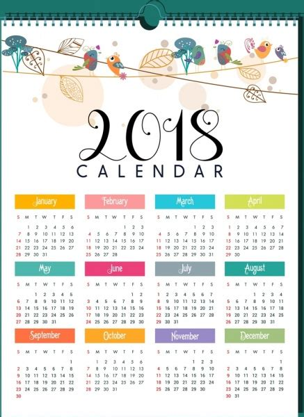 2018 Calendar Vector Free Vector Download 1 524 Free Vector For Commercial Use Format Ai Illustrator Calendar Template 2018