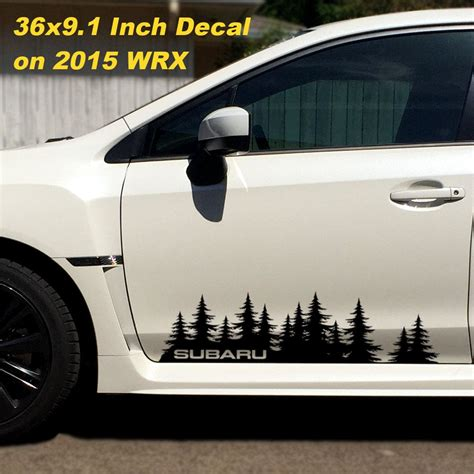 subaru legacy decals subaru decal custom vinyl door graphic forest silhouette