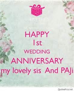 Happy 1st wedding anniversary my lovely sis and paji