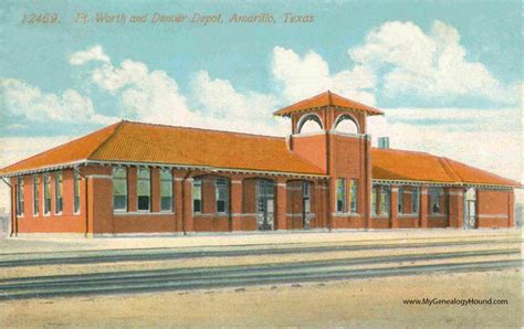 amarillo fort worth and denver depot vintage