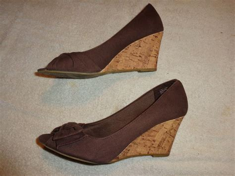 1 inch dress shoes american eagle outfitter brown shoes s size 7 1 2 3 inch heel ebay