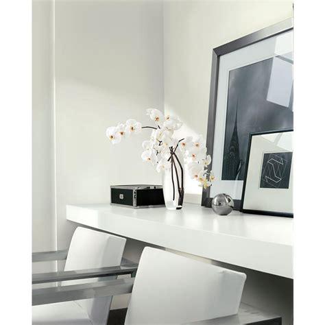 modern white office painted  ralph lauren box pleat