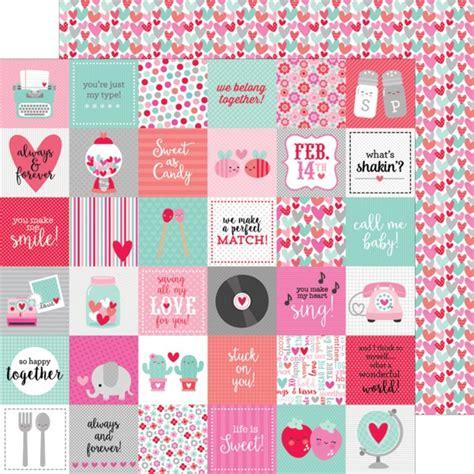 doodlebug valentines doodlebug sweet things 12x12 tiny valentines