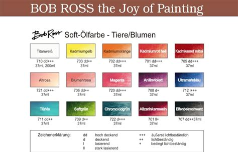 bob ross colors color shop austria osmo adler bob ross bob ross