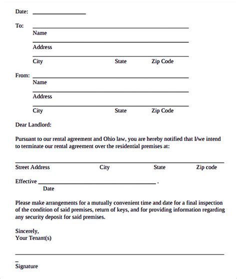 Termination Agreement Letter Template 12 termination letter template
