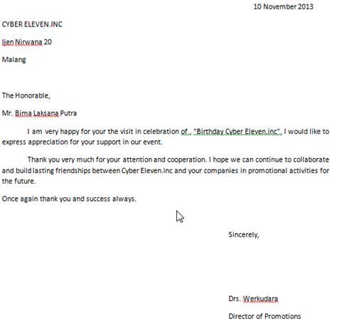 contoh surat komplain dan tanda terima kasih dalam bahasa inggris