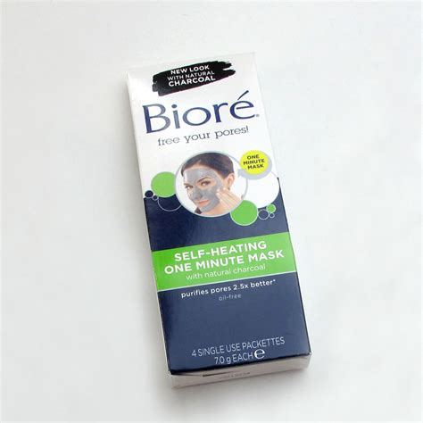 Masker Komedo Biore biore self heating one minute mask with charcoal review lab muffin science