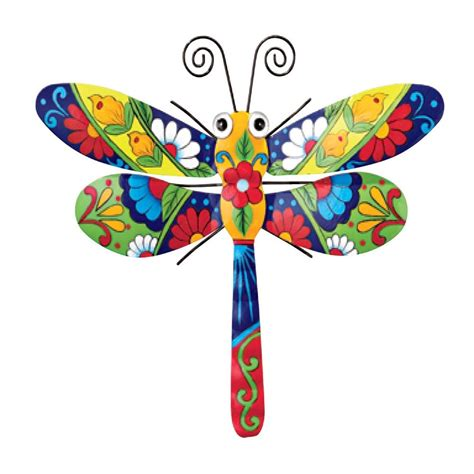 colorful wall decor colorful metal hanging wall decor dragonfly home summer