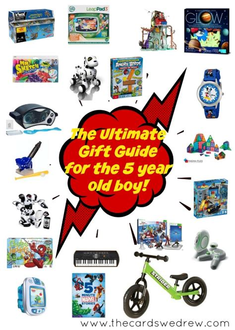 the ultimate gift guide for the 5 year old boy the cards