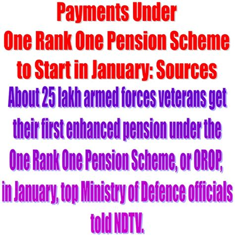 one rank one pension orop scheme orop central download pdf payments under one rank one pension scheme to start in