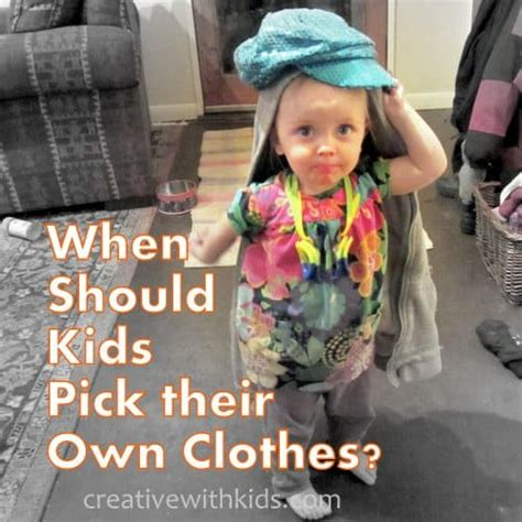 How Pre Choose Their Own Fashion when should be allowed to dress themselves