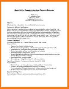 Sample Resume For Research Analyst Cover Letter Quantitative
