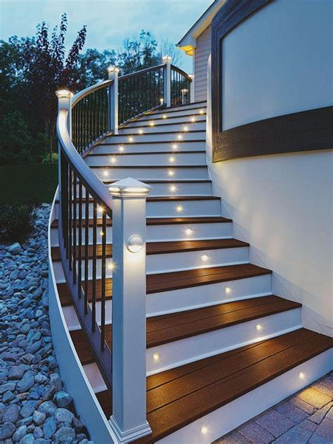 installing lights on deck 14 ways to improve your deck stairs decks and deck stairs
