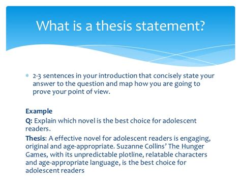 how to do a thesis thesis statement