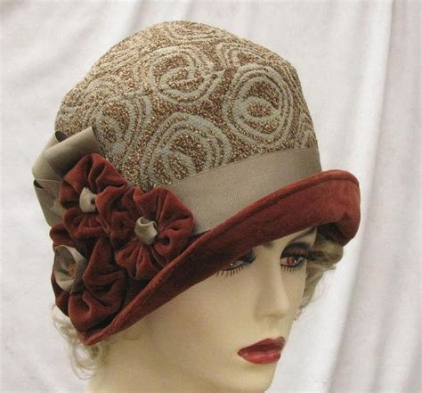 womens fashion fabric cloche hat in vintage 1920 s