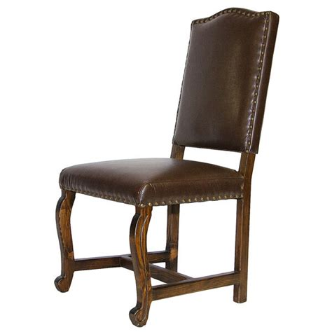 rustic leather dining chairs madre chocolate leather upholstered chair rustic