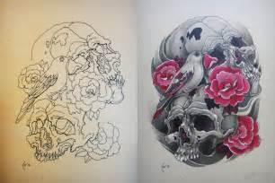 Skull rose tattoo designs source tattooshunt