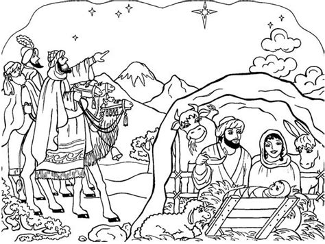 coloring pages of nativity scene lds best photos of nativity manger scenes coloring pages