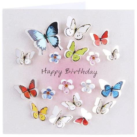 Happy Birthday Wishes Butterfly Fb Happy Birthday Cards Forever Cards Square Cards 3d