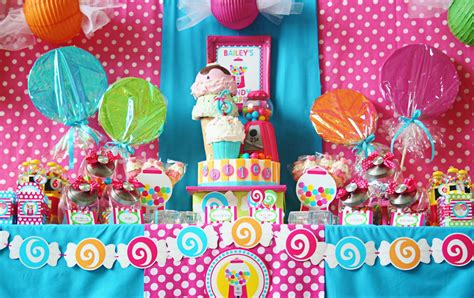 How To Decorate Birthday Party At Home amanda s parties to go sweet shoppe party candyland