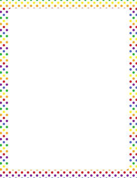 printable polka dot border paper printable rainbow polka dot border free gif jpg pdf