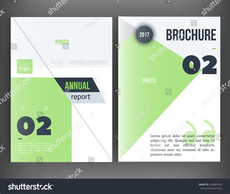 book report brochure template clean vector annual report brochure template stock vector