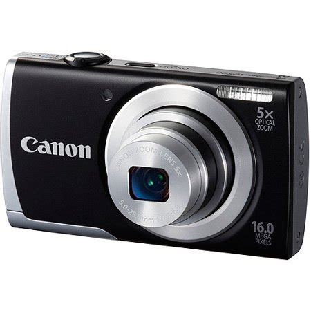 canon black powershot a2500 digital camera with 16