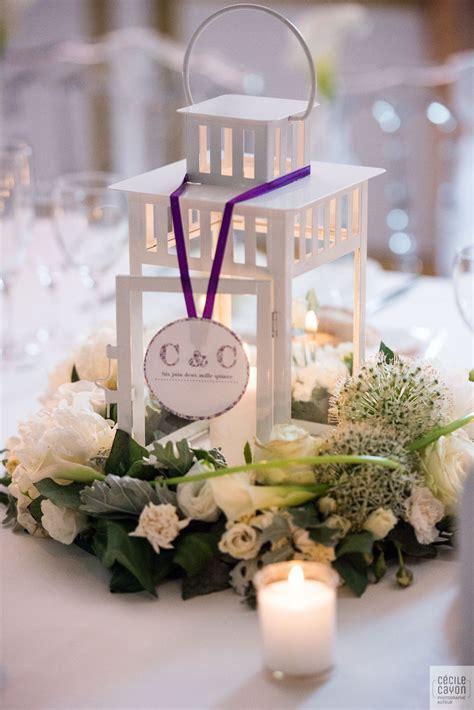 Lanterne De Table d 233 coration mariage blanc lanternes mariage centre de
