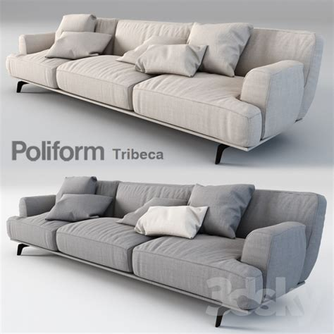 poliform couch 3d models sofa poliform tribeca