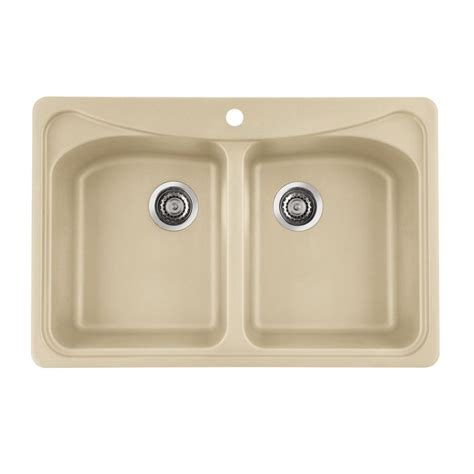cream kitchen sink blanco 441257 double basin kitchen sink composite granite