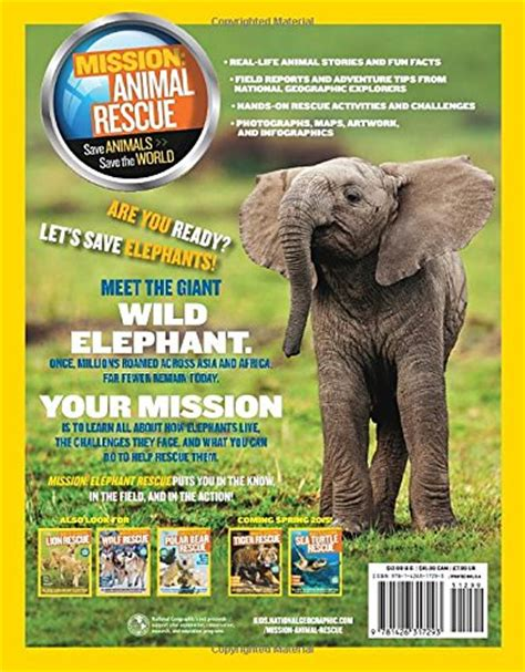 libro mission elephant rescue mission national geographic kids mission elephant rescue all about elephants and how to save them ng