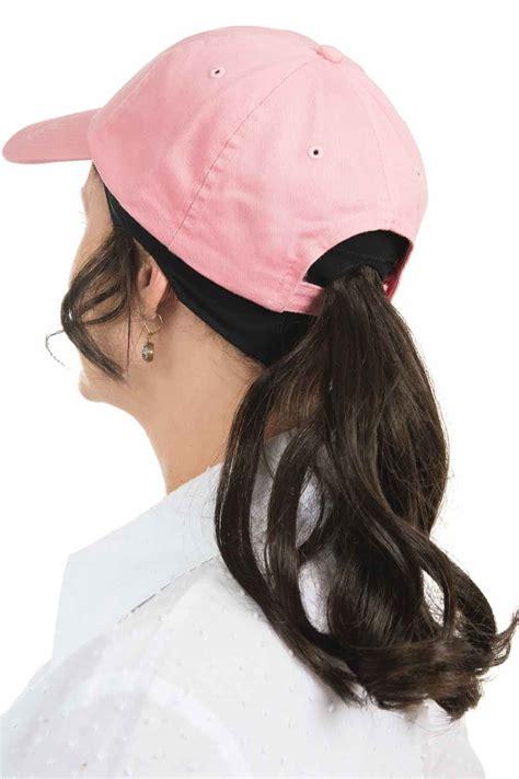 ponytail headband baseball hat with hair by cardani
