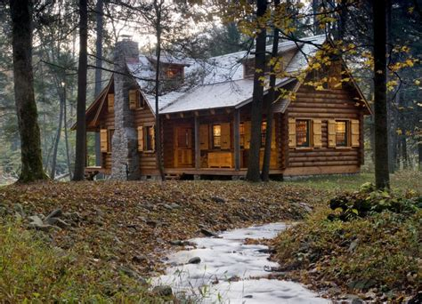 woods log cabin homes