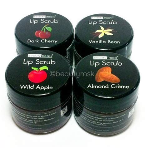Vanilla Beans 4pcs 4pc treats lip scrub with almond creme apple