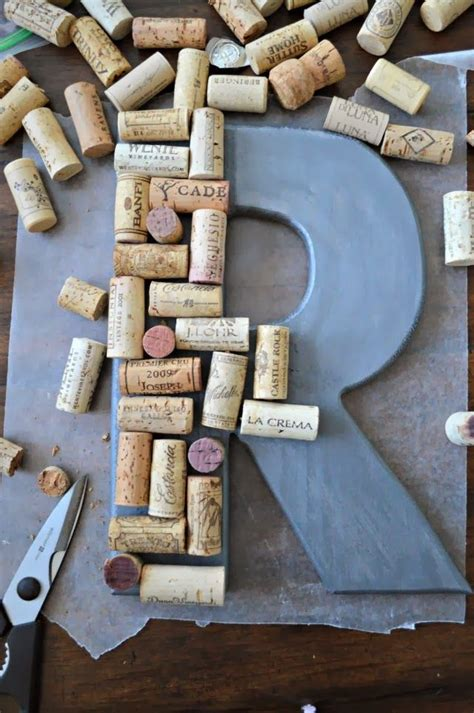 monogrammed wreath with wine corks and burlap bow house ideas burlap bows cork