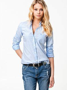 Light Blue Button Shirt Womens by 1000 Images About Tops On Oxford Shirts