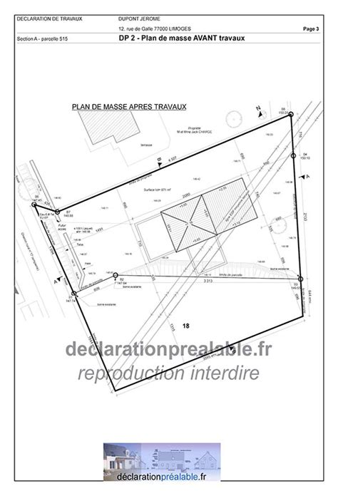 declaration prealable de travaux abri jardin plan de masse dp2