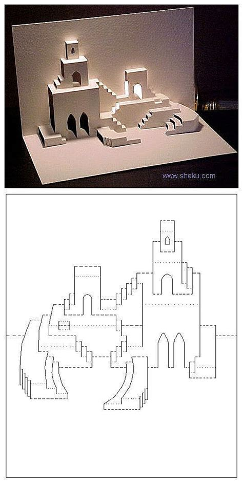 castle pop up card template 5 cartes pop up pour ramadan et a 239 d and co diy